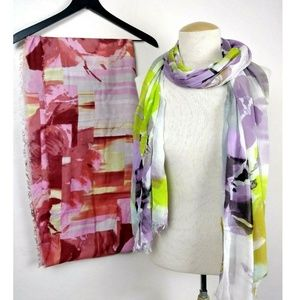 Bundle of 2 Cynthia Rowley Watercolor Scarves